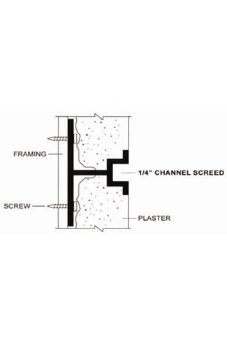"1/4"" plaster channel reveal"