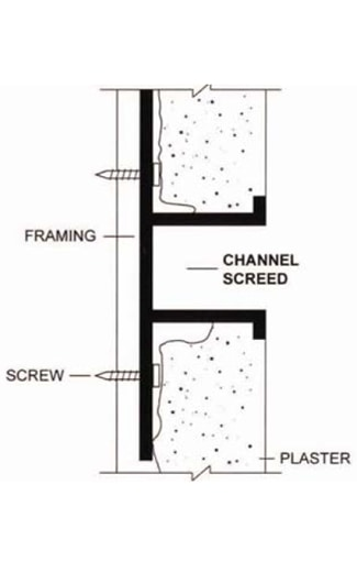 channel screed installation