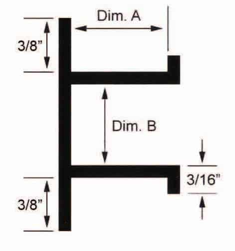 streamline channel dimensions