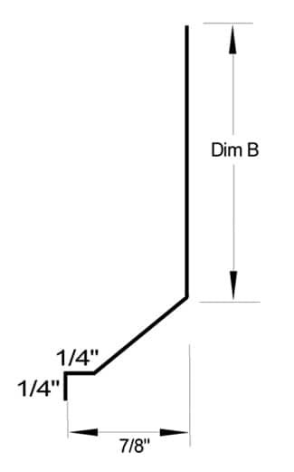 #5 drip screed dimensions